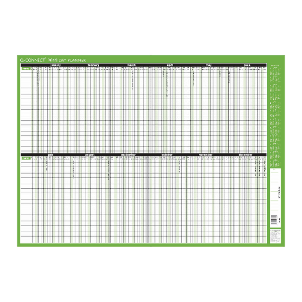 Q-Connect 2019 Day Planner Mounted 855x610mm KFDPM19