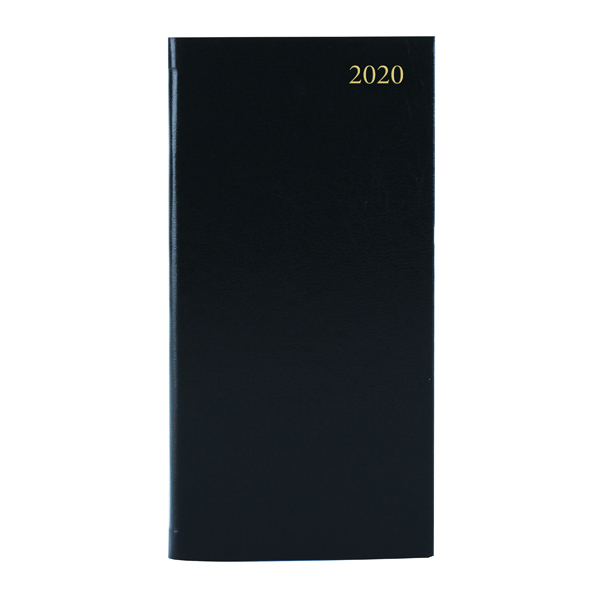 Slim Diary Week to View Appointment 2020 Landscape Black KFHBK20
