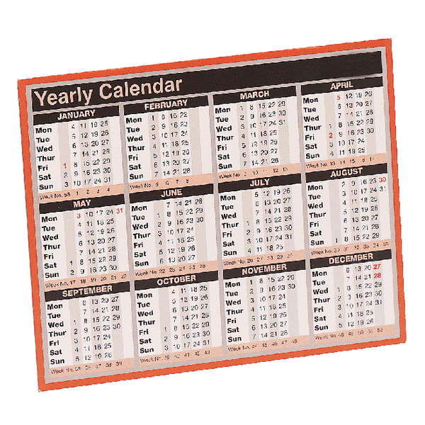 Year To View 257x210mm 2018 Calendar KFYC118