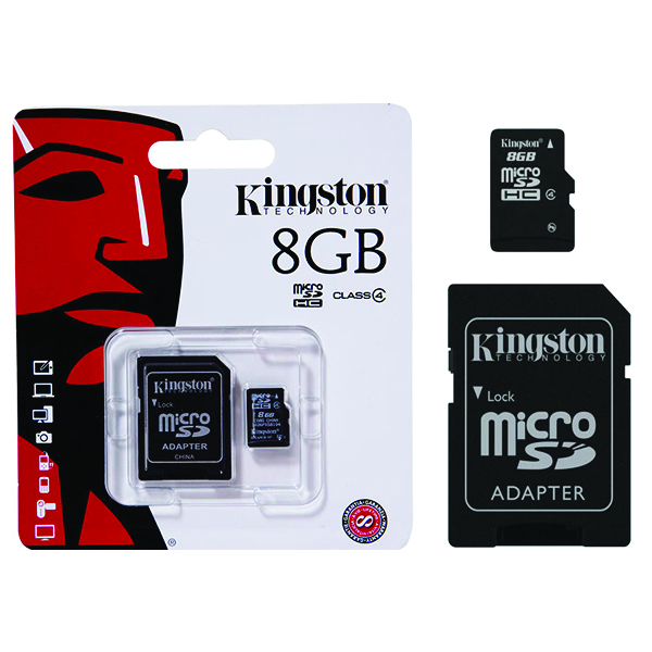 Kingston Micro SDHC Secure Digital Memory Card 8GB Class 4 SDC4/8GB