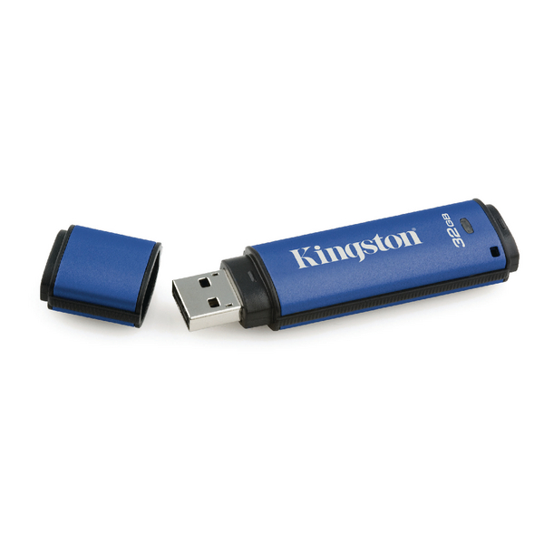 Kingston DataTraveler Encrypted 32GB Flash Drive DTVP30/32GB