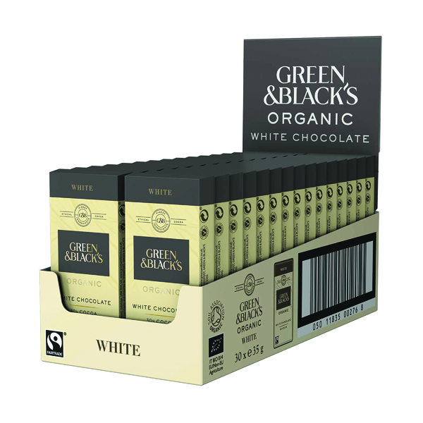 Green & Black's 35g White Chocolate (30 Pack) 611637