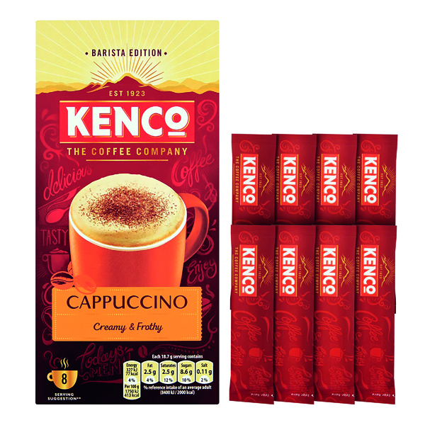 Kenco Cappuccino Instant Sachet (8 Pack) 4019274