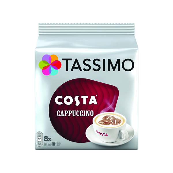 Tassimo Costa Cappuccino Coffee 8x 280g Capsules (5 Pack) 973546