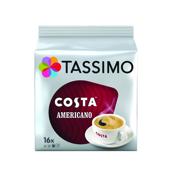 Tassimo Costa Americano Coffee 144g Capsules (5 Packs of 16) 973566
