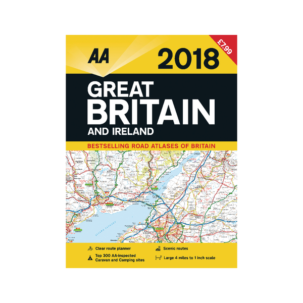 AA Road Atlas Great Britain and Ireland 9780749577834