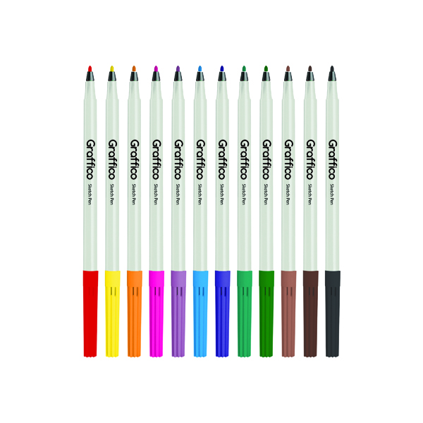 Panda Slim Colouring Pen Assorted (576 Pack) 6101/576