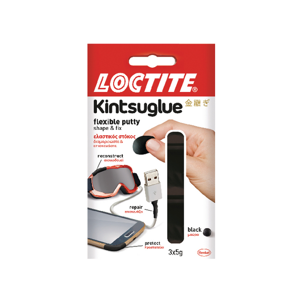 Loctite Kintsuglue Putty Black 5g (3 Pack) 2239183