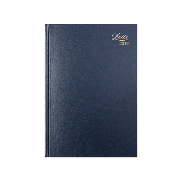 Letts 31Z A4 Week to View Diary Blue 2019 19-T31ZBL
