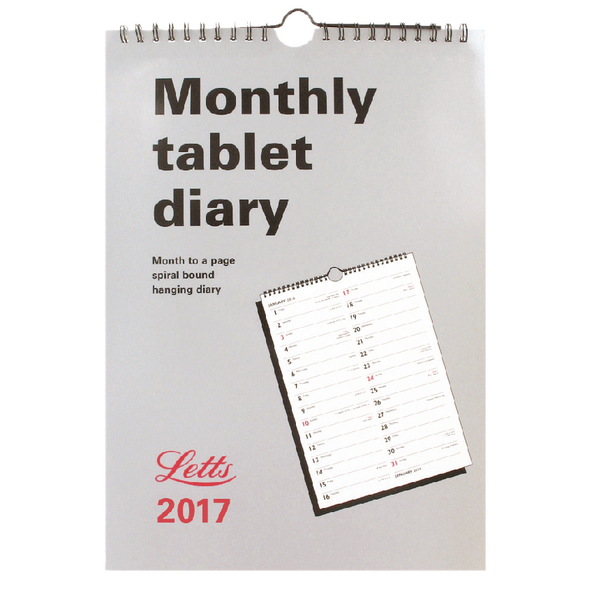 Letts Monthly Tablet 2017 Calendar 17-TMT