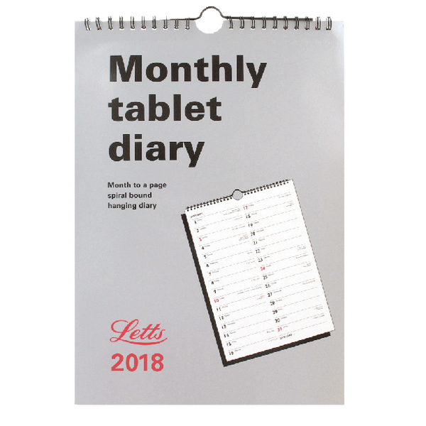 Letts Monthly Tablet 2018 Calendar 18-TMT