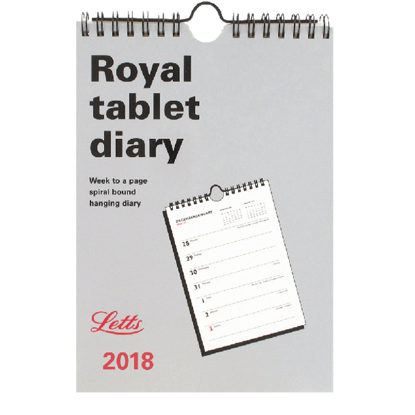 Letts Royal Tablet 2018 Calendar 18-TRT