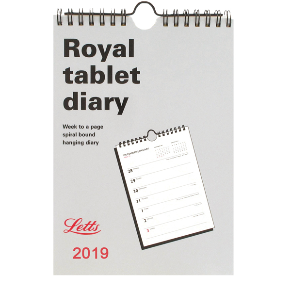 Letts Royal Tablet Calendar 2019 5-TRT