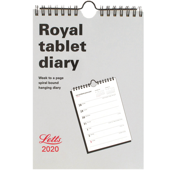 Letts Royal Tablet Calendar 2020 20-TRT