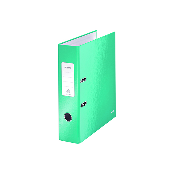Leitz Wow 180 Lever Arch File 80mm A4 Ice Blue (10 Pack) 10050051
