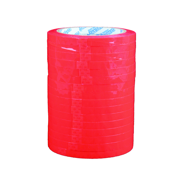 Red Polypropylene Tape 9mm x 66m (16 Pack) 70521252