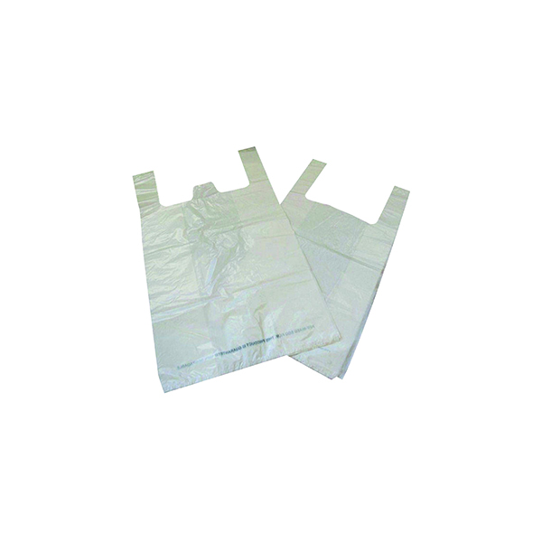 Biodegradable White Carrier Bag (1000 Pack) MA21135