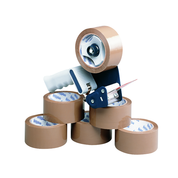 Tape Dispenser With 6 Rolls Polypropylene Tape 50mmx66m (6 Pack) 9761Bdp01