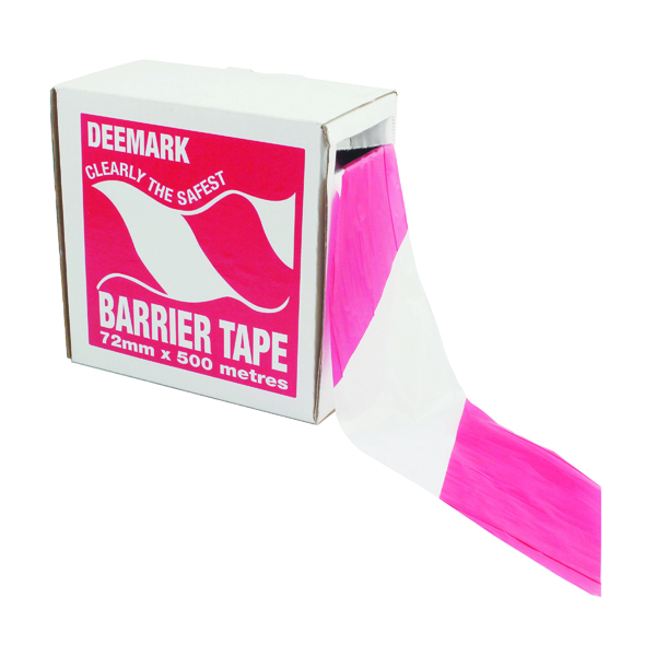 Flexocare Red and White Polythene Barrier Tape Dispenser 72mmx500m 7101001