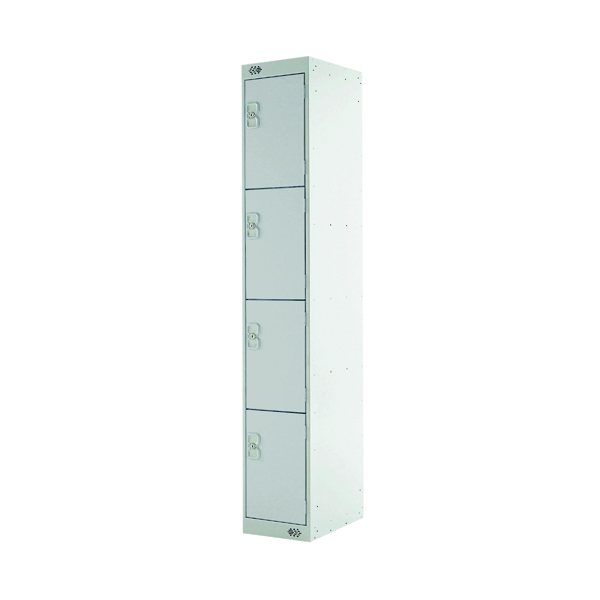 Express Standard Locker 4 Door W300xD300xH1800mm Light Grey MC00146
