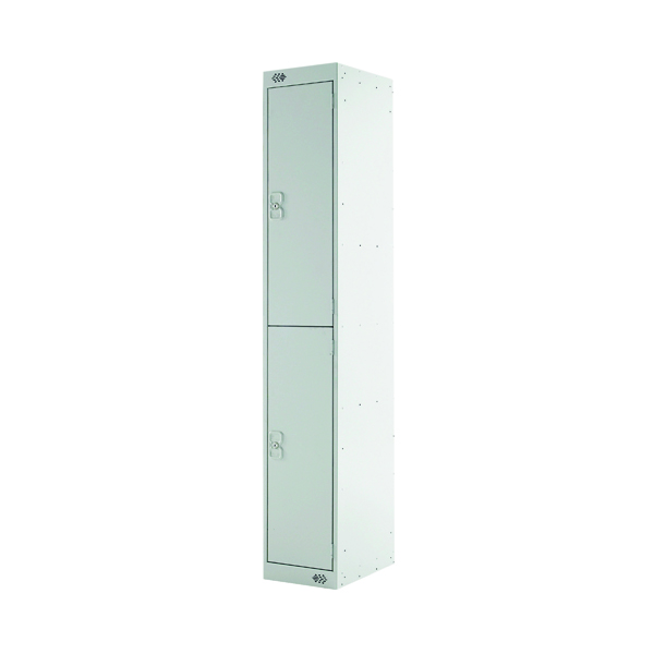 Express Standard Locker 2 Door W300xD450xH1800mm Light Grey MC00155