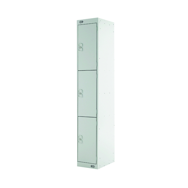 Express Standard Locker 3 Door W300xD450xH1800mm Light Grey MC00158
