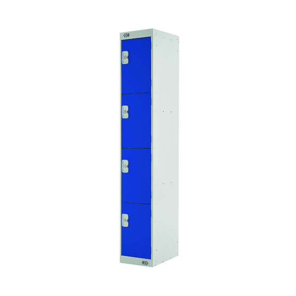 Express Standard Locker 4 Door W300xD450xH1800mm Light Grey/Blue MC00160