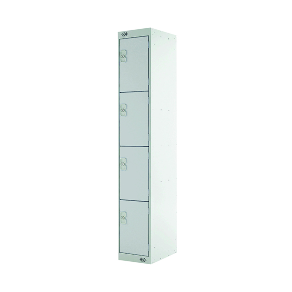 Express Standard Locker 4 Door W300xD450xH1800mm Light Grey MC00161