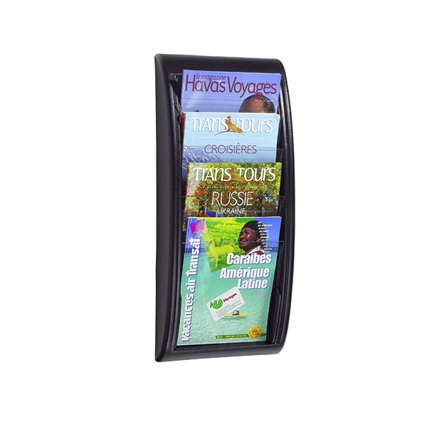 Fast Paper Black Quick Fit A4 Wall Display System F406101