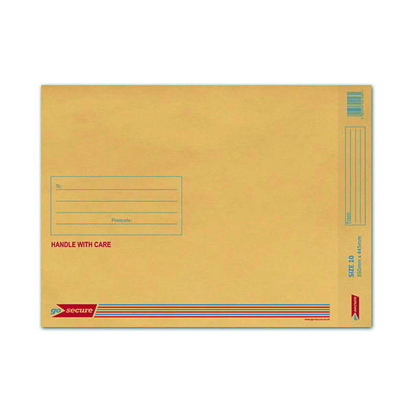 GoSecure Size 10 350 x 470mm Brown Bubble Lined Envelopes (50 Pack) ML10062
