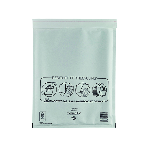 Mail Lite Size H/5 270 x 360mm Bubble Lined Postal Bag (50 Pack) MLW H/5