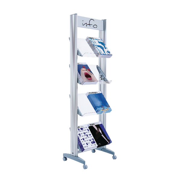 Fast Paper Wide A4 Plexiglass 4 Shelf Display F84TT35
