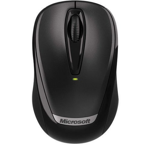 Microsoft Black Wireless Mobile Mouse 3000 with Nano 2EF-00003 (Pack of 1)