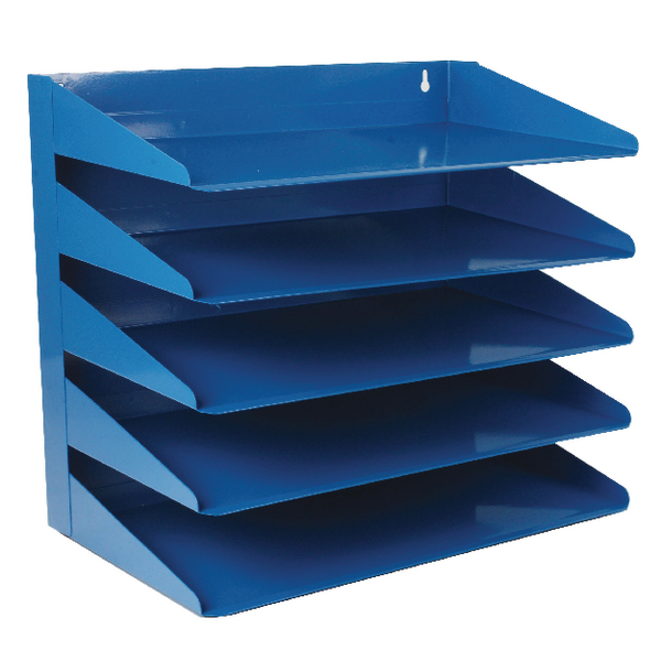 Avery Steel 5 Tier Blue Letter Rack 605SBLUE