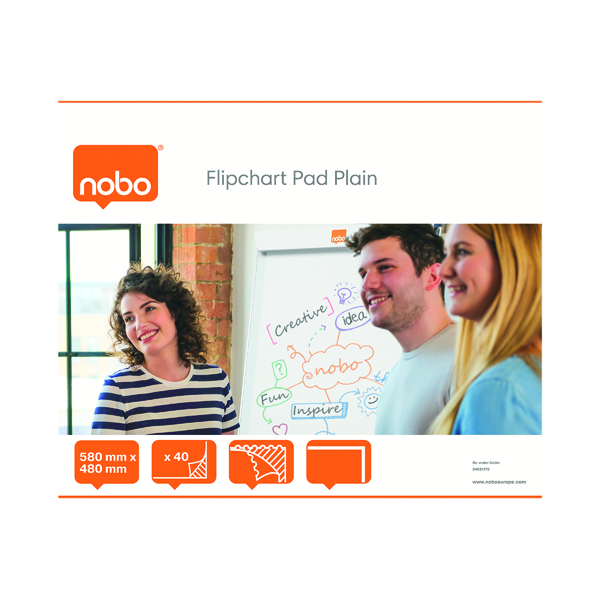 Nobo Feint Ruled Flipchart Pad 584x485mm 40 Sheet (5 Pack) 34631166