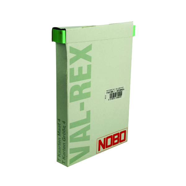 Nobo Size 4 Light Green T-Card (100 Pack) 32938924