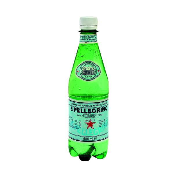 San Pellegrino Sparkling Natural Mineral Water 500ml Bottles (24 Pack) 12132530