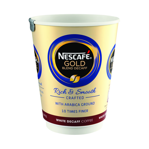 Nescafe & Go White Decaffeinated Gold Blend (8 Pack) 12033784