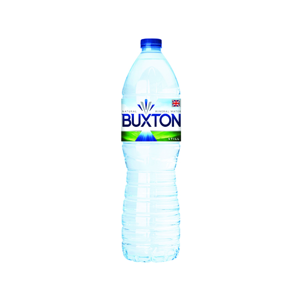 Buxton Still Mineral Water 1.5 Litre Plastic Bottles (6 Pack) 12020136