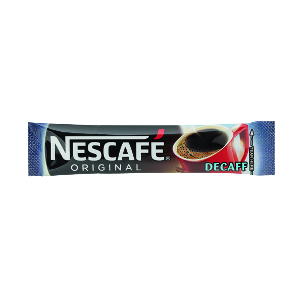 Nescafe Decaffeinated One Cup Sticks Coffee Sachets (200 Pack) 12315595