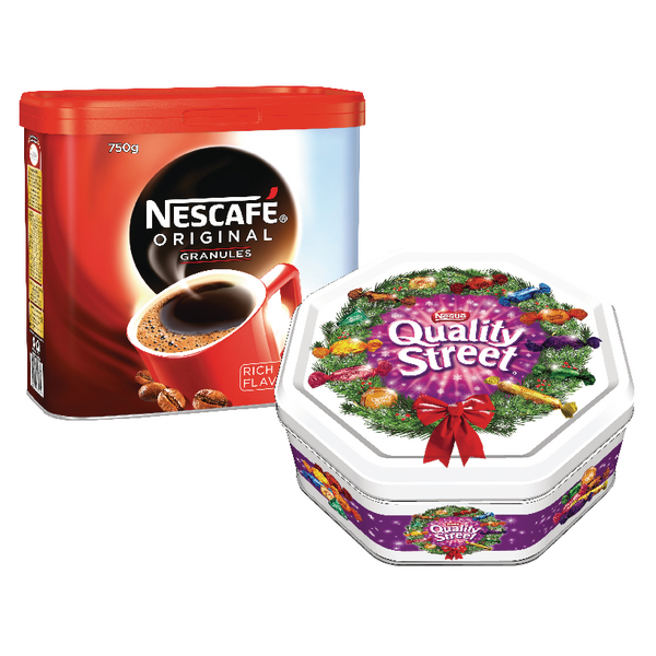 Nescafe Original 750g  Buy 2 Get FOC Quality Streets 1.3kg Tin NL819828