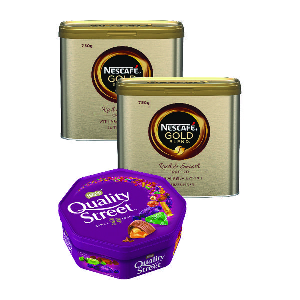 Nescafe Gold Blend Instant Coffee 750g Buy 2 Get FOC Quality Street 720g NL819846