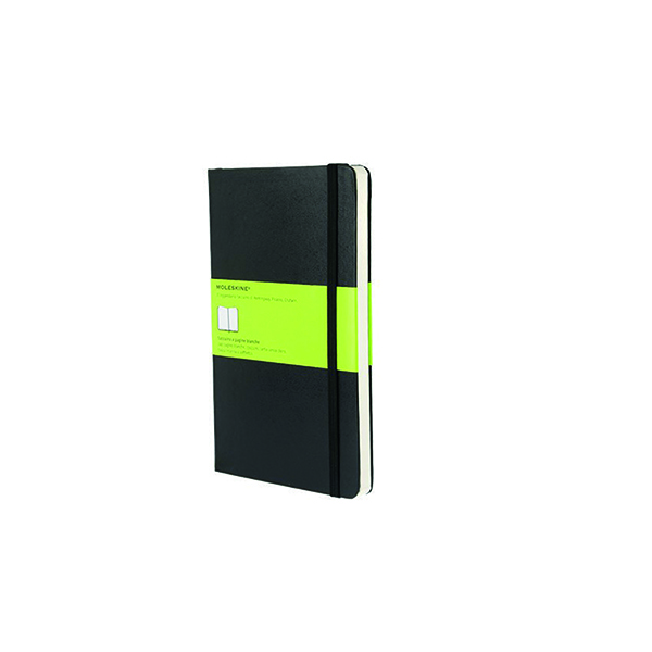 Plain Large Hard Black Moleskine Classic Notebook QP062