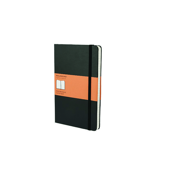Moleskine Notebook Soft Cover Large 130 x 210mm Ruled Black QP616