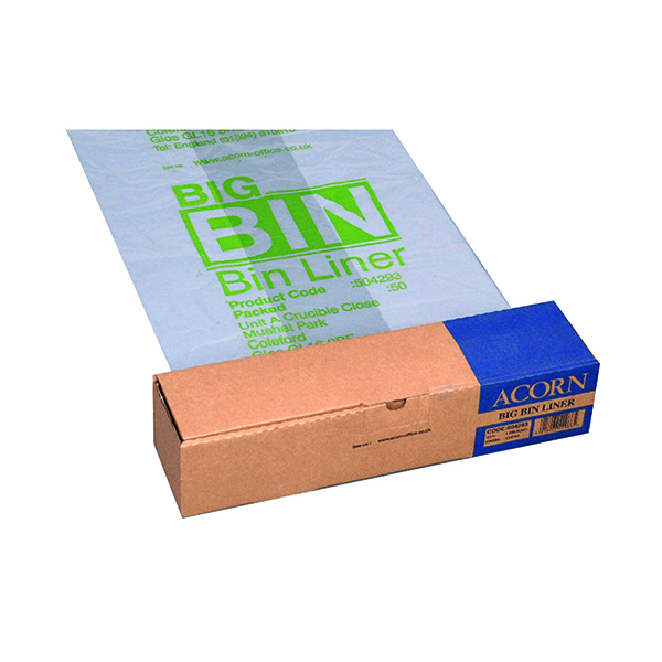 Acorn Twin Bin Heavy Duty Recycling Liner (50 Pack) 504293