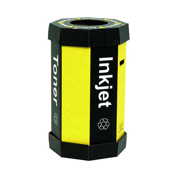 Acorn Cartridge Black/Yellow Recycling Bin 60 Litre (5 Pack) 059783