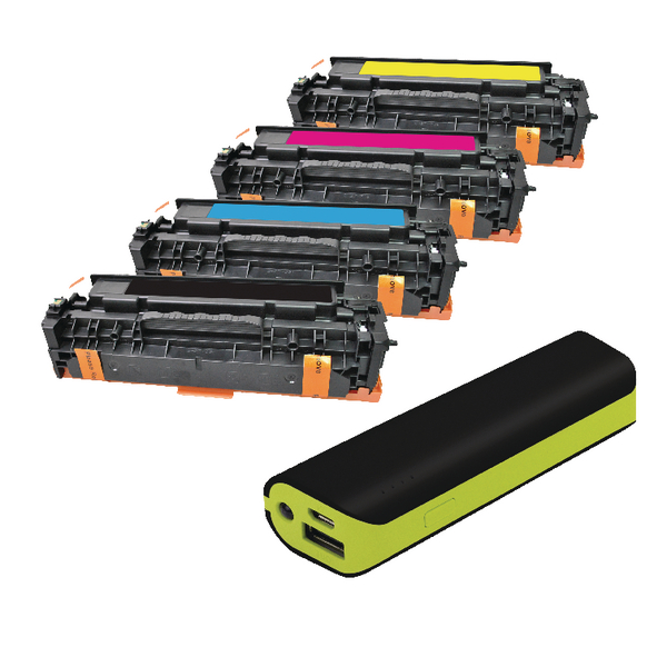 Q-Connect HP Color Laserjet M451 toner FOC Reviva 2000mAH Powerbank OB833017