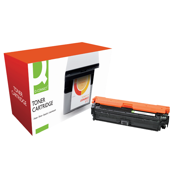 Q-Connect Remanufactured HP 651A /CE340A Black Toner Cartridge CE340A-COMP