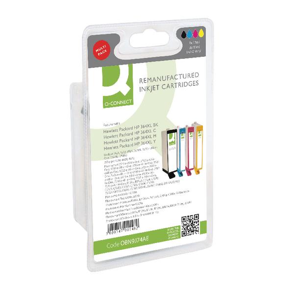 Q-Connect HP 364XL Ink Cartridge HY Colour (4 Pack) N9J74AE-COMP