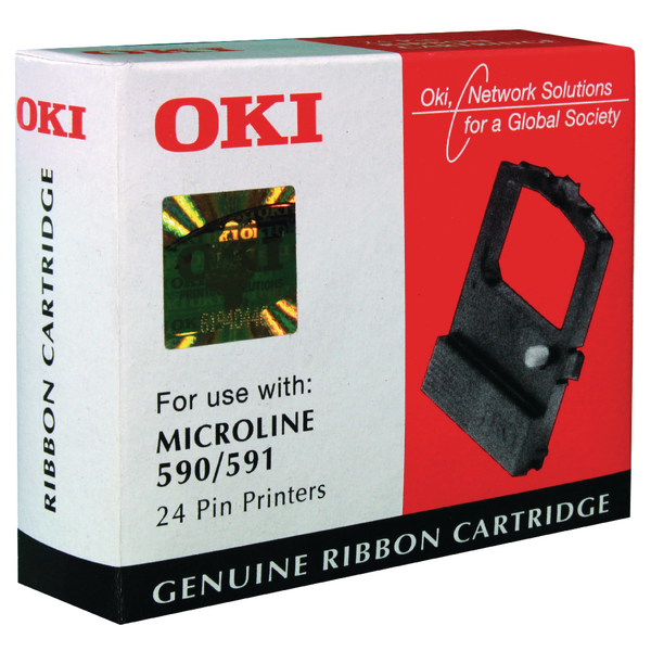 Oki Black Fabric Ribbon For Microline 590/​591 09002316